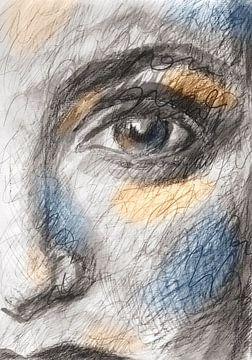 Oogcontact van ART Eva Maria