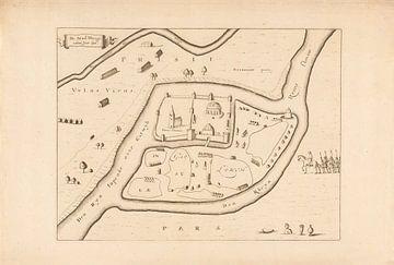 Plattegrond van Utrecht van 690, E. van Engelen