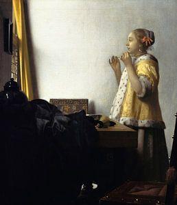 Johannes Vermeer. Vrouw met parelsnoer