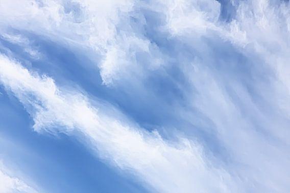 Cirrus wolken gestileerd