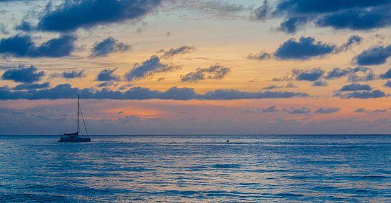 Ankeren bij de Seychellen