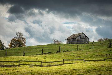 Landschaft mit Feldscheune von Jürgen Schmittdiel Photography