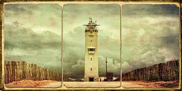 Vintage-Look Leuchtturm Noordwijk von eric van der eijk