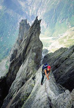 Klettern am Salbit-Westgrat, Schweiz von Menno Boermans
