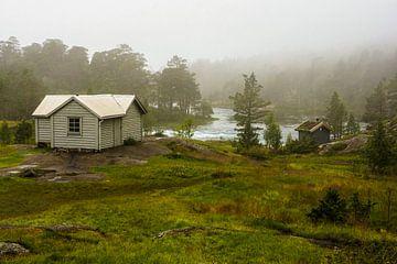 Berghutjes in de mist van Remco de Zwijger