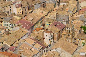 Castellane Frankrijk vogelvlucht van