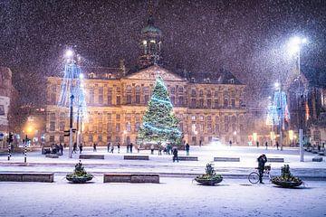 Winter auf dem Dammplatz in Amsterdam von Etienne Hessels