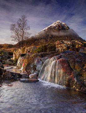 Wasserfall Buachaille etive mò, Schottland von Bob Slagter