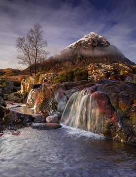 Waterval Buachaille etive mòr, Schotland van Bob Slagter