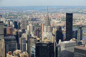 Uitzicht over Manhattan New York met Chrysler Building