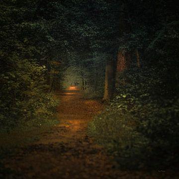 Niederländische Landschaft mit Wald im Stil der niederländischen Meister von ina kleiman