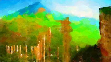 Chinees landschap met levendige kleuren van Ready Or Not