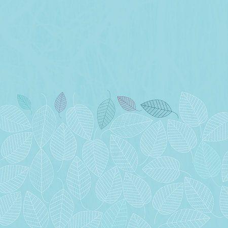 LEAVES ENSEMBLE BLUE