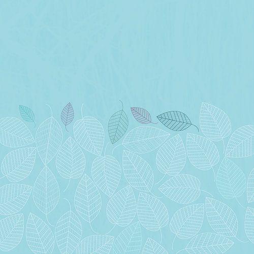 LEAVES ENSEMBLE BLUE van Pia Schneider