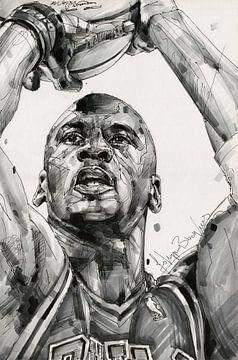 Michael Jordan, Chicago Bulls dessin/art sur Jos Hoppenbrouwers