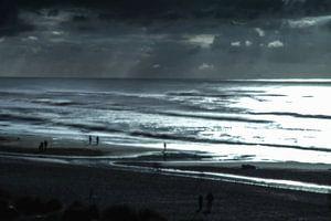 Dänemark Strand im Gegenlicht