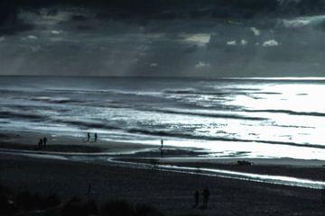 Dänemark Strand im Gegenlicht van