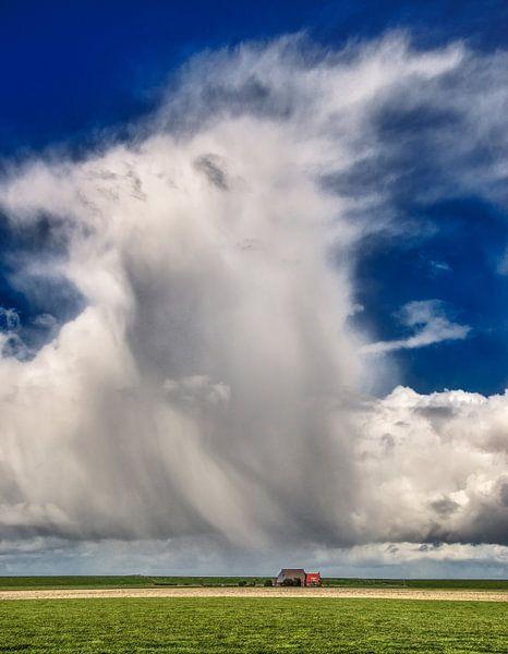 Zeer plaatselijke regenwolk