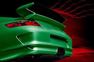Porsche 911 GT3 Type 997 in het groen