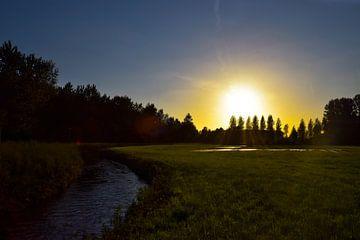 zonsondergang. van