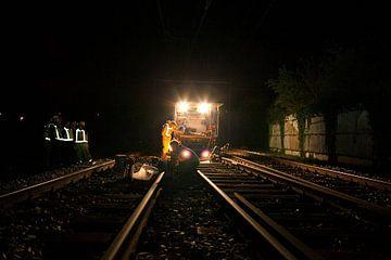 Nachtelijke werkzaamheden aan het spoor von Desiree Meulemans