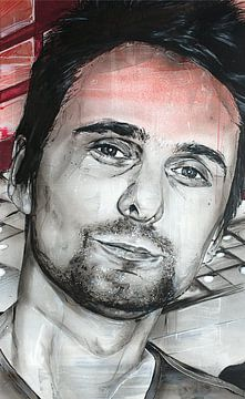 Matthew Bellamy, (MUSE) malerei von Jos Hoppenbrouwers