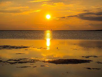 Zonsondergang in de Waddenzee van Animaflora PicsStock