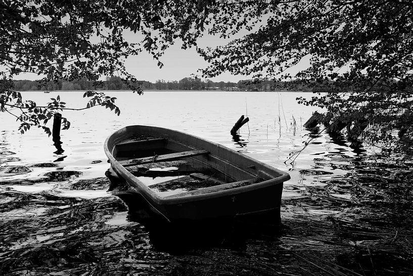 Ruderboot am See von Frank Herrmann