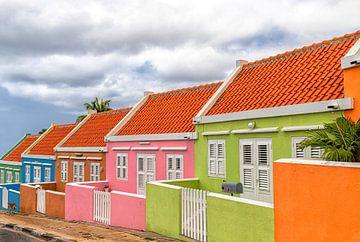 Farbige Häuser Willemstad Curacao von Marly De Kok