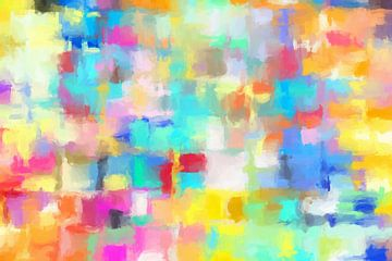 Abstract met geel van Marion Tenbergen