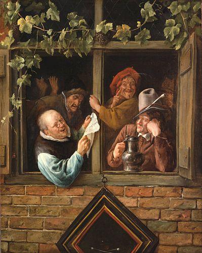 Jan Steen. Retorici bij een raam van 1000 Schilderijen