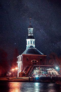 Zijlpoort (Leiden) by night van Edzard Boonen