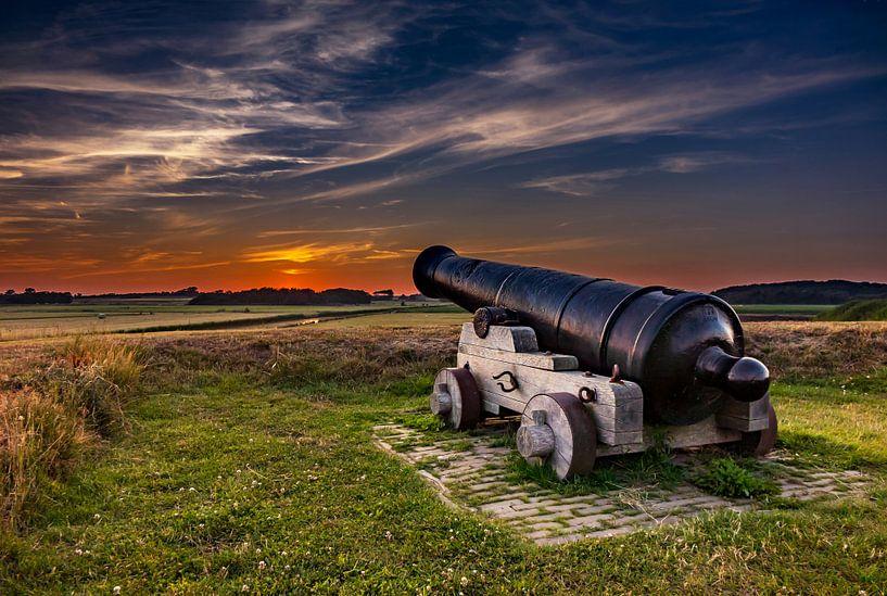 Kanon Fort de Schans  Texel van Texel360Fotografie Richard Heerschap