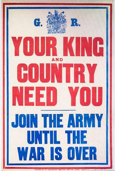 Wervingsposter uit de tweede Wereldoorlog. van Brian Morgan