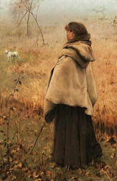 Das Mädchen mit dem Millais-Kap, Edward Riche Butler