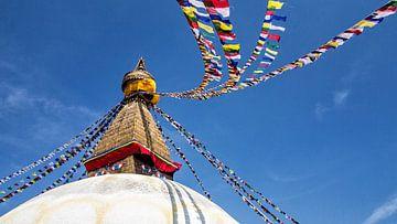 Bodnath Stupa à Katmandou (Népal) sur Jan van Reij