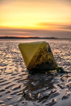Boei op het strand in Normandie aan Zee Frankrijk