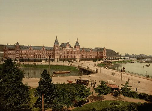 Amsterdam Station van Vintage Afbeeldingen