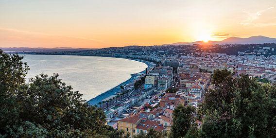 Sonnenuntergang in Nizza an der Côte d'Azur