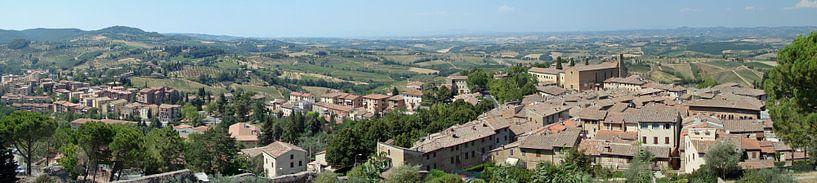 San Gimignano panorama van Carel van der Lippe