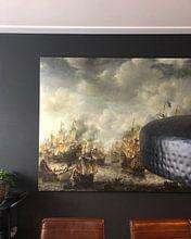 Kundenfoto: Seeschlacht von Terheide - Jan Abrahamsz Bierstraßen, auf leinwand