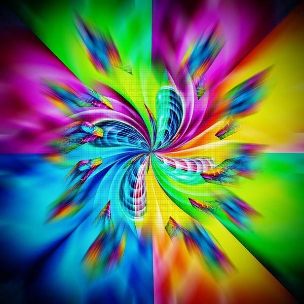 Abstract tot in de perfectie 5 van Walter Zettl