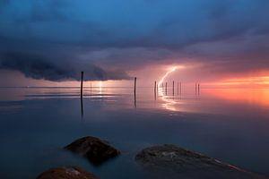 Onweer boven het Markermeer