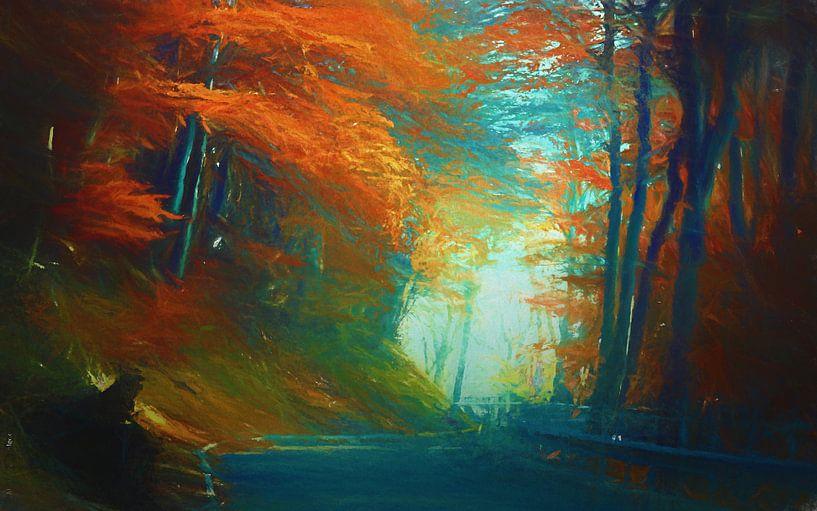 Paysage d'automne van Angel Estevez