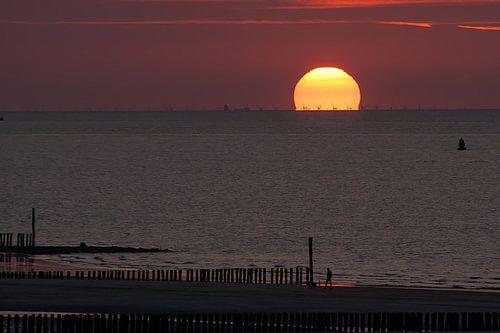 zonsondergang bij Breskens van