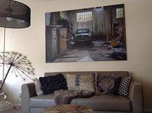Klantfoto: Garage van Leo van Valkenburg, op canvas