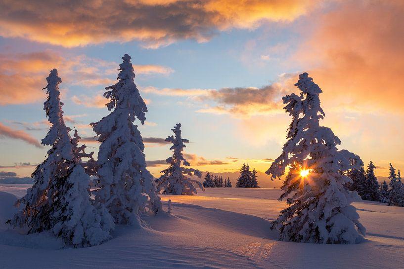 Winterse zonsondergang van Coen Weesjes