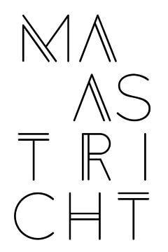 Stadsmotief Maastricht Typo van Kim Karol / Ohkimiko