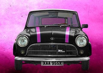 Innocenti Mini Minor 850 in black with stripes von aRi F. Huber