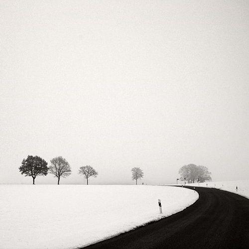 Winterliche Landstrasse von Lena Weisbek
